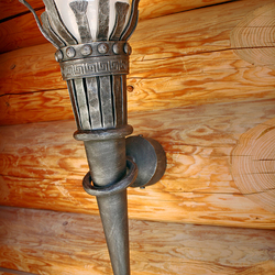 Schmiedeeiserne Wandlampe Fackel - Außenleuchte