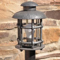 Sockelleuchte – geschmiedete Lampe KLASSIK klein – Gartenleuchte