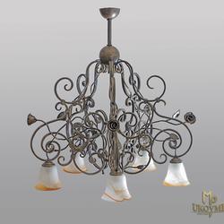 Hängeleuchte – geschmiedeter Kronleuchter RUSTIKAL 5 – exklusive Leuchte