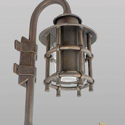 Wandleuchte – geschmiedete Lampe KLASSIK mit Schirm – Außenleuchte