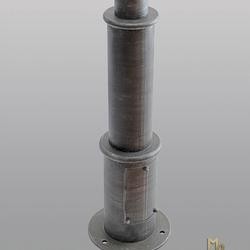 Geschmiedeter Mast für Seitenlampen – Detail