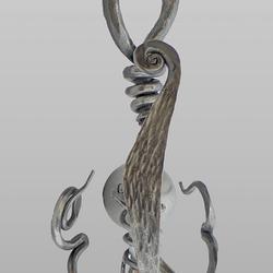 Design-Wandlampe WURZEL – außerordentliche handgeschmiedete Leuchte