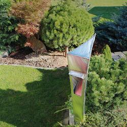 Luxuriöse Gartenlampe aus Edelstahl – Außenleuchte
